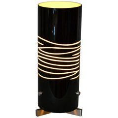 Modern Black and Sand Hand Blown Oggetti Luce Dune Due Table Lamp by Simona