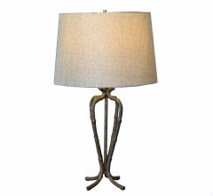 Faux Bamboo Cast Iron Table Lamp