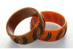 Pair of Bakelite Bracelets