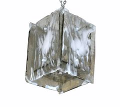 Mid Century Modern Italian Murano Art Glass Textured Chandelier by Carlo Nason for Mazzega