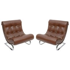 Italian Formanova Lounge Chairs, S/2