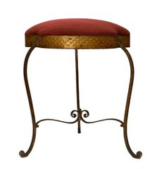 Italian Wrought Iron Gilt Finished Tabouret