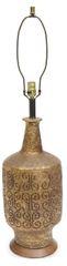 Ceramic Curly-Q Scroll Motif Lamp