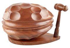 Hand-Carved Monkeypod Nutcracker Box