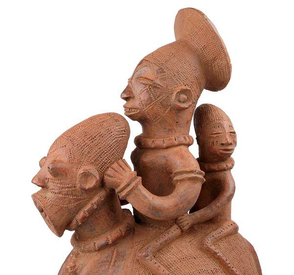 Hand-Made African Figural Waterjug