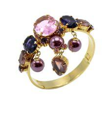 Stunning Italian Runway Bracelet in violet and pink by Justin Joy