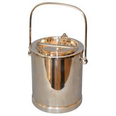 Mid-Century Modern Silver Plate Miniature Bar Ice Bucket Double Wall Insulated