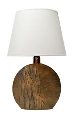 Pragos Sculpted Bronze Table Lamp, Italy