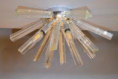 Chrome & Crystal Sputnik Ceiling Light Fixture