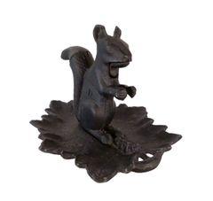 Vintage Cast Iron Nutcracker Squirrel