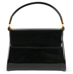 Black Patent Leather Handbag