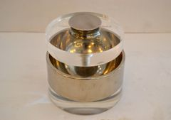 Mid-Century Modern Lucite and Chrome Ice Bucket or Candy Dish