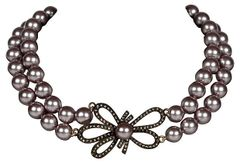Heidi Daus 2 Strand Faux-Pearl Necklace