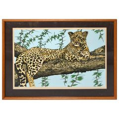 Original Lithograph 'Cheetah' Signed by Artist Mac Couley