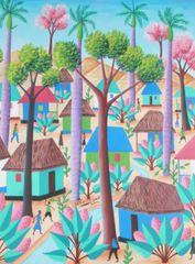 Charles Saül Haitian Village Scene