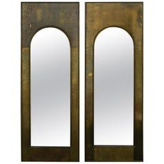 Pair of Golden Arched Palladian Mastercraft Mirrors