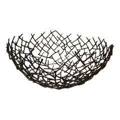 Modern Michael Aram THATCH Bowl in Bronze Nest Twig