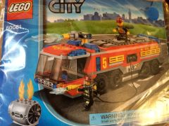 60061 airport fire truck - red
