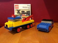 710 wrecker with car