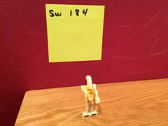 sw 184 battle droid commander w/ yellow torso