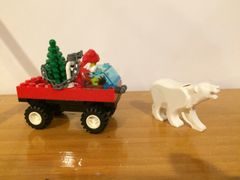 1177 santa in truc with polar bear