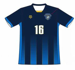 Cedar Rapids Rampage Home Indoor Blue Replica Jersey