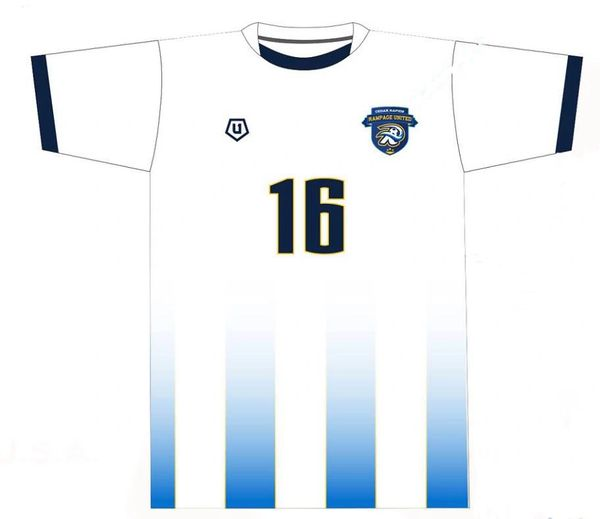Cedar Rapids Rampage Home Outdoor White Replica Jersey