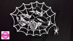 Can Am Spyder Vehicle Decal Sticker - Spider Web