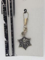 Spider Web Zipper Pull Charm