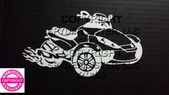 Can Am Spyder Vehicle Decal Sticker - Spyders With Flames