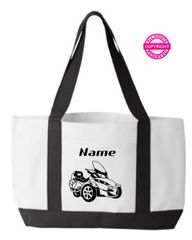 Can Am Spyder Personalized Tote Bags
