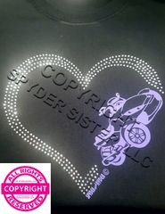 Can Am Spyder With Rhinestone Heart - 2 Design Choices- Long Sleeve & Fleece