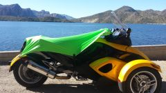 Can Am Spyder Sun Shade - Neon Green