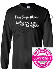Can Am Spyder - I'm a Simple Woman - Long Sleeve