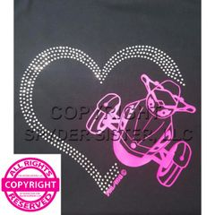 Can Am Spyder with Rhinestone Heart - 2 View Choices - Short Sleeve