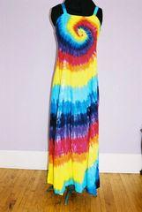 Rainbow Spiral Dress Ribbon Strap Long