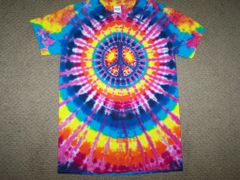 peace sign - small--typically on smaller sized shirts
