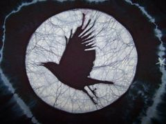 Crow-batik and tie dye