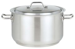 """Stainless Steel Stew Pan with Lid 24cm/10"""" 5.6L"""