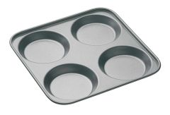 Master Class Non-Stick Four Hole Yorkshire Pudding Pan 24cm Sleeved