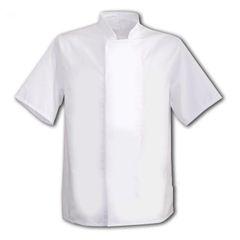 White Coolmax Jacket With Comcealed Press Studs XXL
