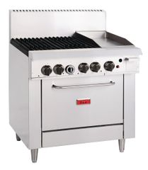 Thor 4 Burner Natural Gas Oven Range and 305mm Grill GL174-N