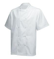 Short Sleeve Basic Jacket White XL