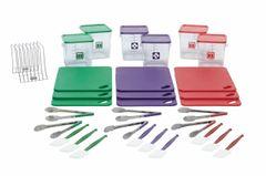Rubbermaid Square Container Small Purple 3.8L