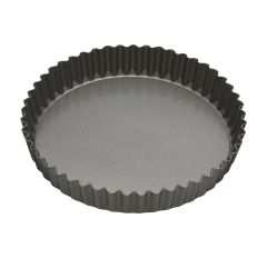 """Master Class Non-Stick Fluted Loose Base Quiche Tin Round 25cm 10"""" Sleeved"""