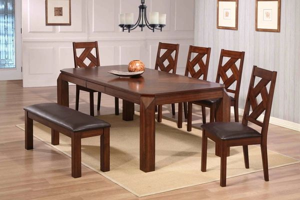 Diamond Dining Set Dining Table Four Chairs And Bench