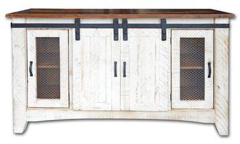 Barn Door Tv Stand Tv Console Dresser Rustic Industrial La