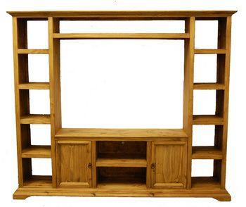 Rustic Entertainment Center Wall Unit La Hacienda Furniture Store