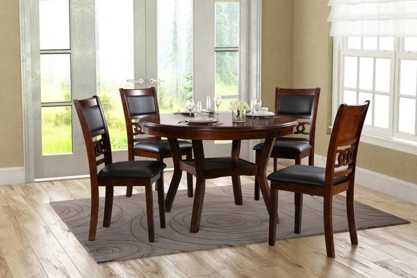 Charlotte Round Dining Table W Four Chairs La Hacienda Furniture