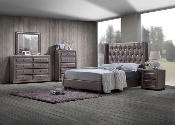 Aria Bedroom Set | Queen Bed, Nightstand, Dresser, Mirror | La ...